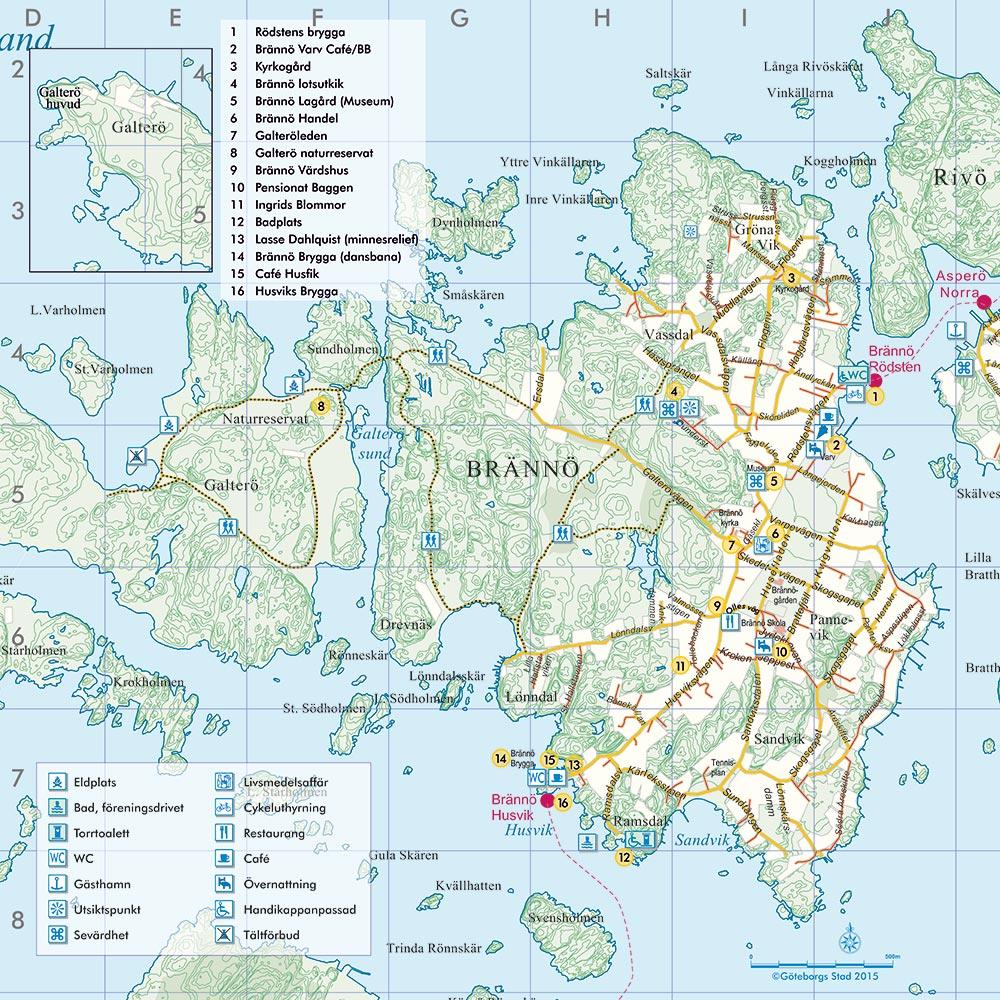 brännö karta Karta   Brännö Värdshus brännö karta
